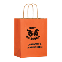 Orange Halloween Kraft Bag
