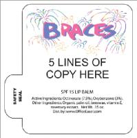 Mini Lip Balm with Braces Fireworks Design