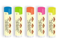 SPF 15 Neon Lip Balm with Smile Evolution Monkey Design