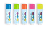 SPF 15 Neon Lip Balm with Smiley Faces Design
