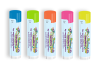 SPF 15 Neon Lip Balm with Smile Flower Design