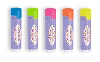 SPF 15 Neon Lip Balm with Smile Power Design