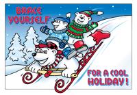 Brace Yourself Holiday Postcard