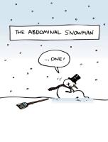 Abdominal Smowman Holiday Greeting Card