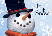 Let It Snowman Holiday Greeting Card