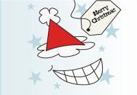 Santa Face Holiday Greeting Card