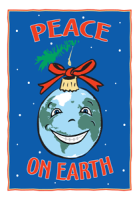 Peace On Earth Ornament Holiday Greeting Card