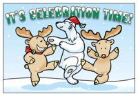 It's Celebration Time Holiday Greeting Card