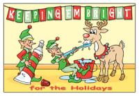 Keeping 'Em Bright Holiday Postcard