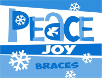 Peace Joy Braces Molars Holiday Greeting Card