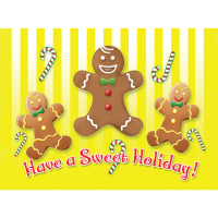 Sweet Gingerbread Holiday Greeting Card