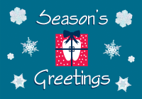 Season's Greetings Holiday Postcard