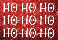 Ho Ho Ho Holiday Greeting Card