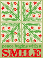 Peace Begins with a Smile Holiday Greeting Card