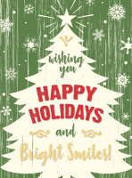 Happy Holidays and Bright Smiles Postcard