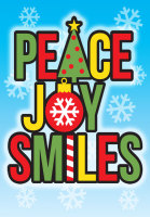 Peace Joy Smiles Holiday Postcard