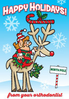 Happy Holidays North Pole Postcard