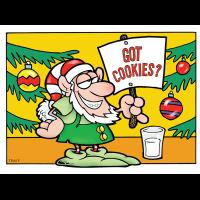 Got Cookies Elf Holiday Greeting Card