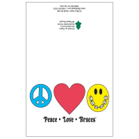 Peace Love Braces Note Card Pack