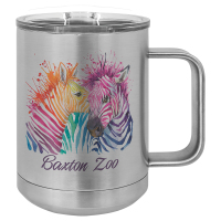 Sublimated 15oz Stainless Mug with Handle