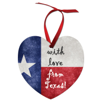 "Sublimated 3"" x 2.87"" Heart Shaped Aluminum Ornament"