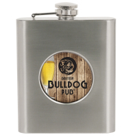 """Sublimated 6oz Flask with 2"""" Disk Insert"""