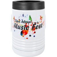 Sublimated White Stainless Drink Holder