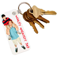 "Sublimated 1.25"" x 3"" Plastic Key Tag"