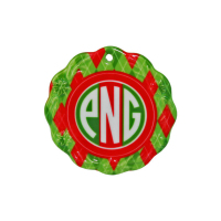 "Sublimated 2.875"" Wreath Edge Ornament"
