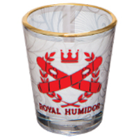 Sublimated 1.5oz Shot Glass with Gold Rim