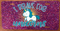 Sublimated Unicorn License Plate