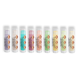 Colorful Lip Balm with Smile Evolution Monkey Design
