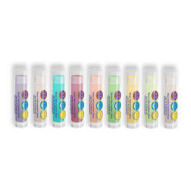Colorful Lip Balm with Smiley Faces Design