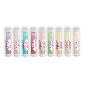 Colorful Lip Balm with Smile Power Design