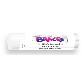 All Natural Lip Balm with Braces Fireworks Design