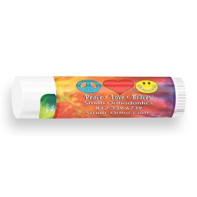 All Natural Lip Balm with Peace-Love-Braces® Design