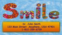Full Color Smile Business Card Magnet