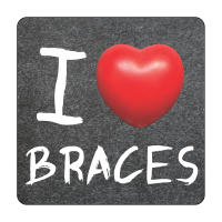 I Heart Braces Sticker