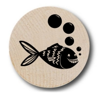 Fish Bubbles Wooden Nickels