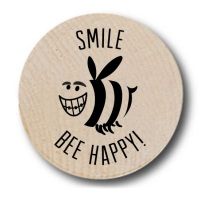 Smile Bee Happy Wooden Nickels