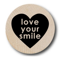 Love Your Smile Wooden Nickels