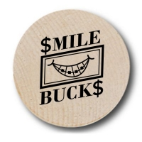 Smile Bucks Wooden Nickels