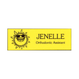 Name Tag with Sun Logo - Magnetic Back