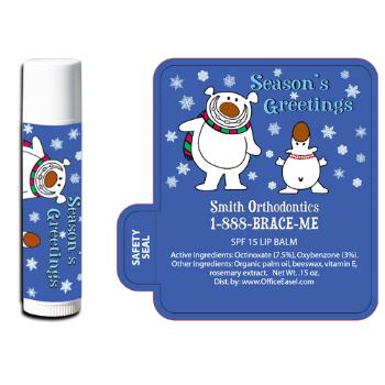 All Natural Lip Balm with Polar Bear Design