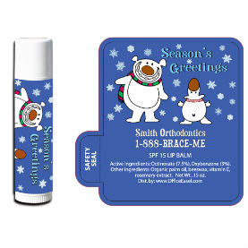 All Natural Lip Balm with Polar Bear Design