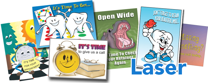 Laser Postcards Orthodontic Promo Products   Office Easel