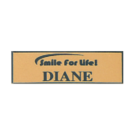 Name Tag with Smile for Life Logo - Magnetic Back
