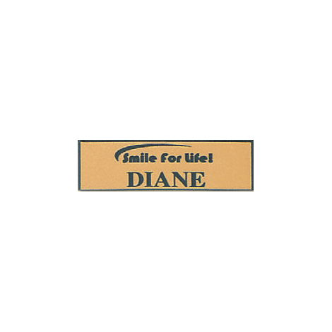 Name Tag with Smile for Life Logo - Pin Back