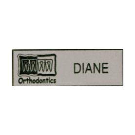 Name Tag with Orthodontics Logo - Pin Back