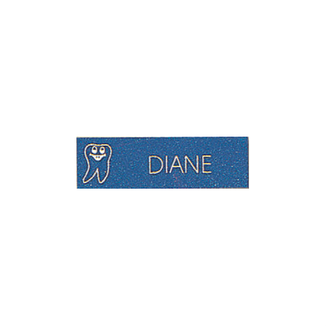 Name Tag with Happy Tooth Logo - Magnetic Back